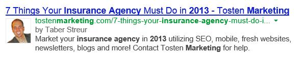 Google Authorship Insurance Agents