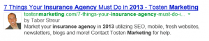 Google Authorship Insurance Agents