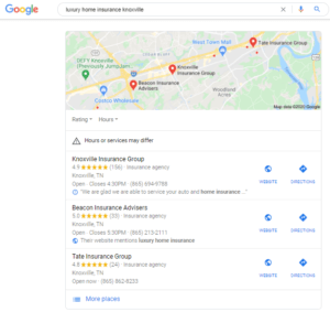 Insurance Agency Google My Business
